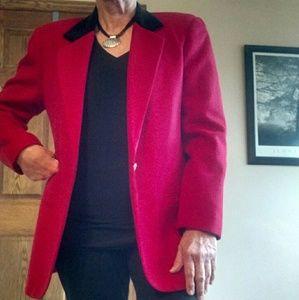 Wool blazer jacket coat.